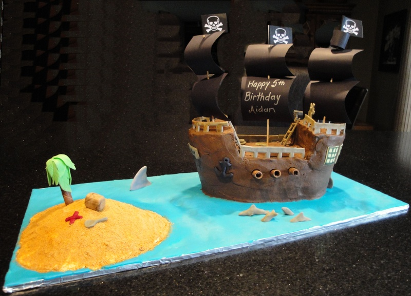 Pirate Ship with Treasure Island for Aidan
