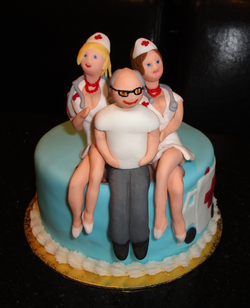 Naughty Nurses to the Rescue Cake