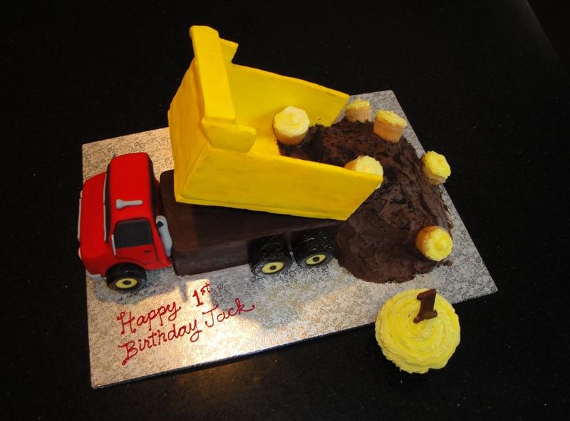 3D Dump Truck Cake for Jack's 1st Bday