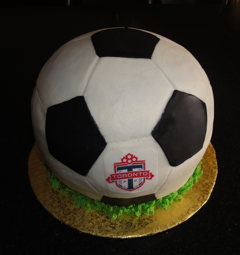 3D Soccer Ball Theme cake