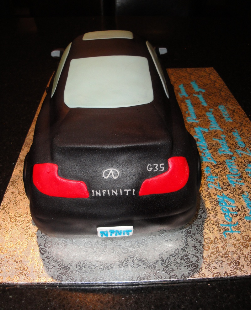 3D Infiniti G35 24th Birthday Cake