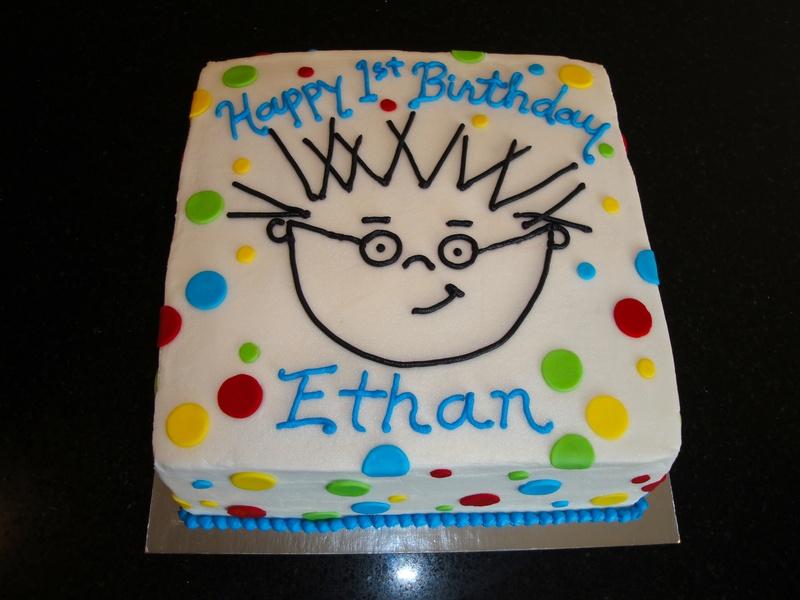 1st Birthday Baby Einstein Cake for Ethan