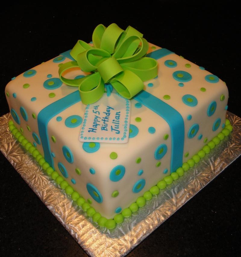5th Birthday Present Cake for Julian