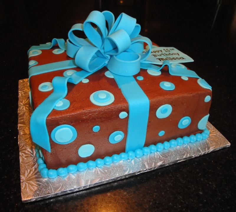 Melissa's 15th Birthday Present Cake
