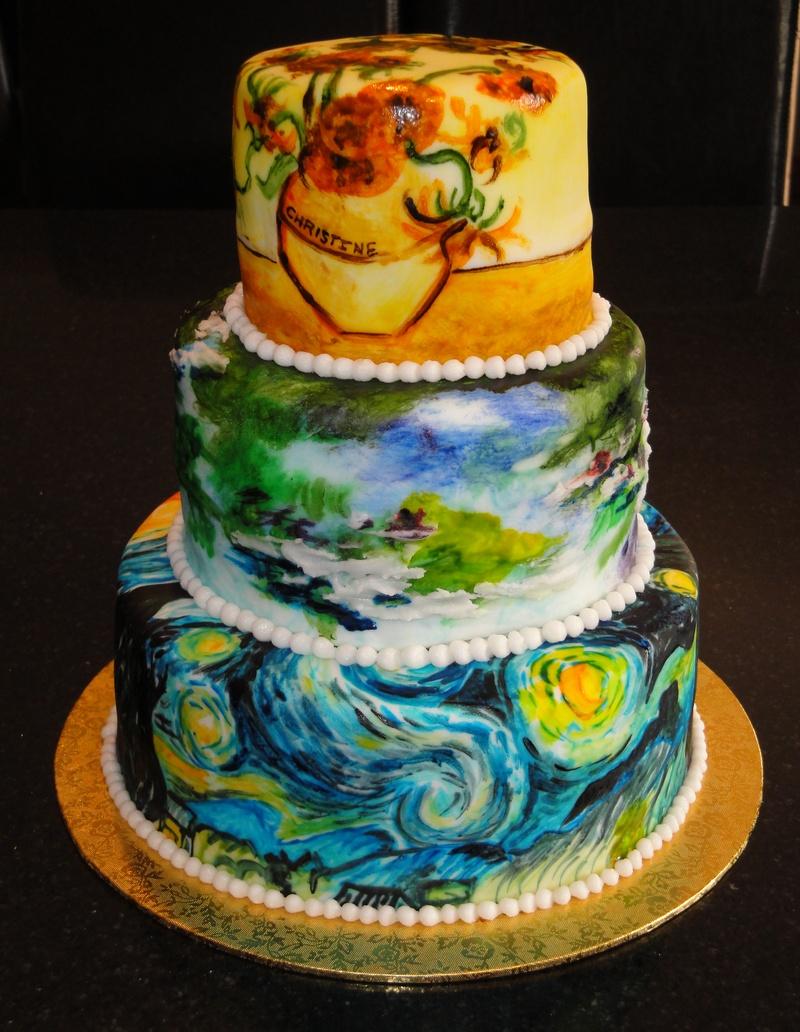 Impressionist Birthday Cake