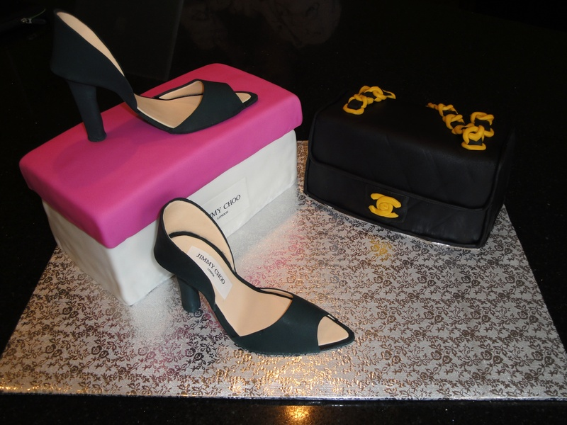 Jimmy Choo Shoes & Chanel Purse Cakes