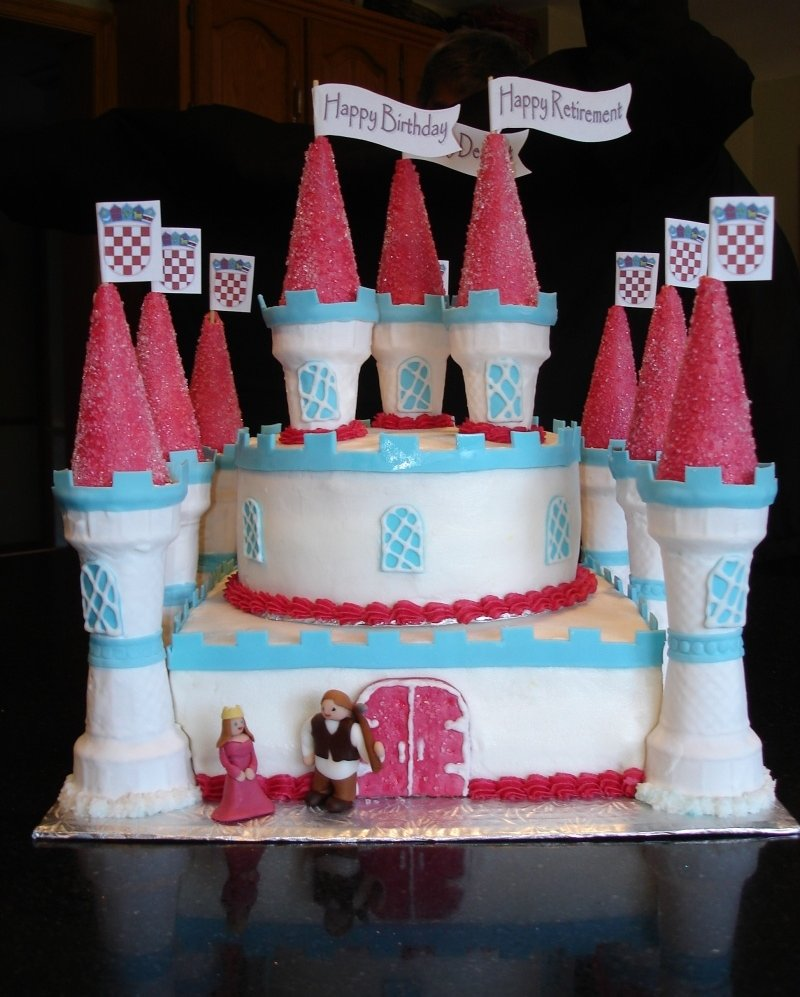 Princess Castle Cake - Made for a Queen