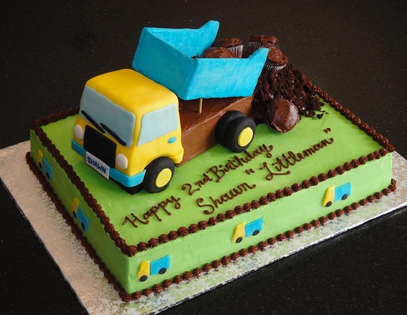Dump Truck 2nd Birthday Cake for Shawn