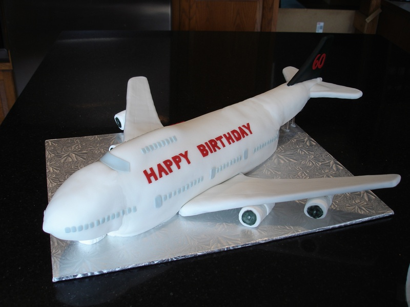 3D Air Canada 747 Airplane Birthday Cake