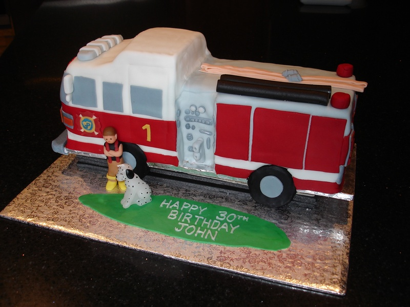 3D Fire Truck Cake - St. Catherine's Fire Dep.