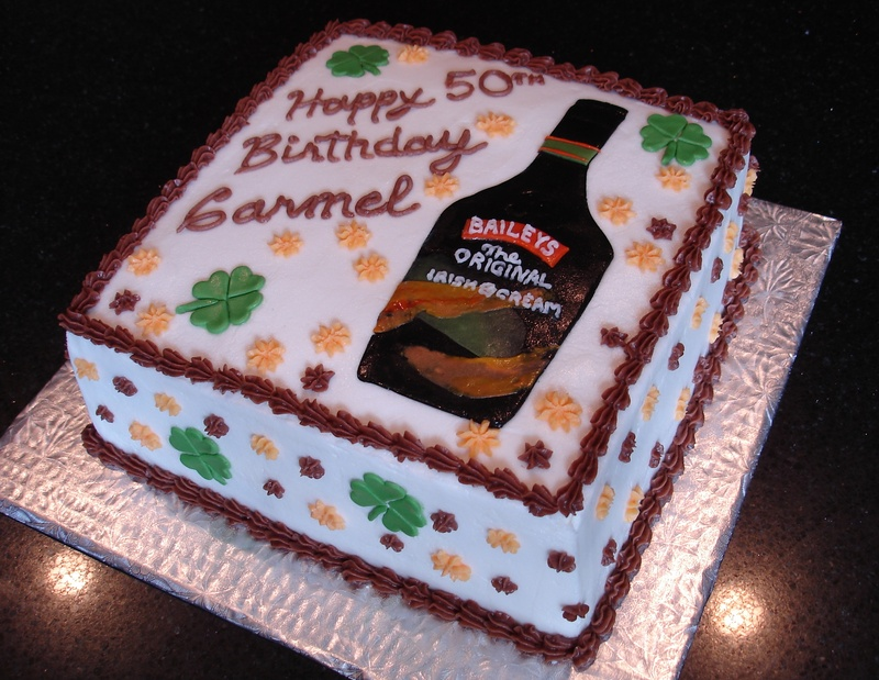 Baileys Irish Cream Theme Birthday Cake