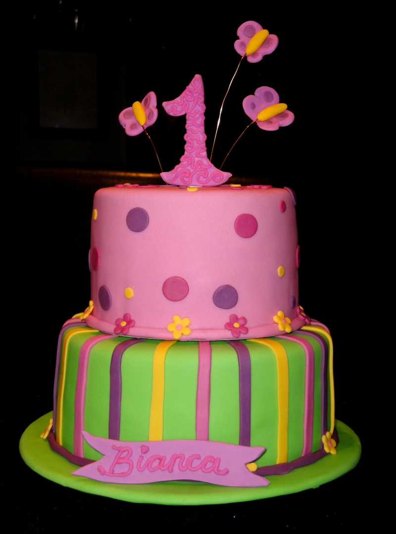 First Birthday Cake for Bianca