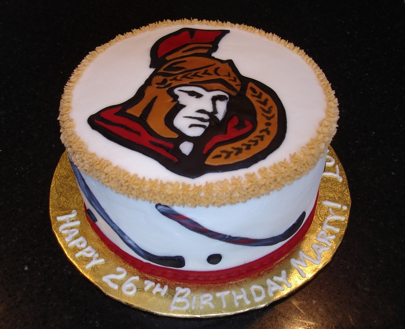Ottawa Senators Theme Birthday Cake