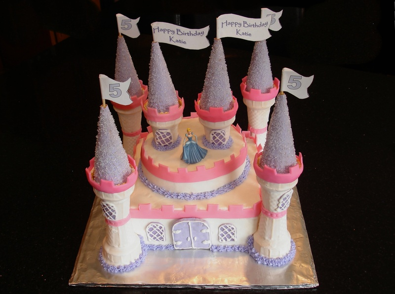 Princess Castle Cake for Katie