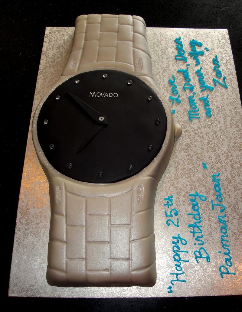 Movado Watch Birthday Cake