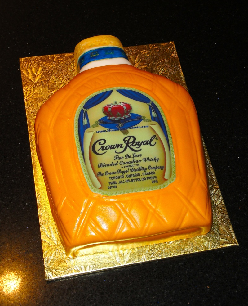 Crown Royal 50th Birthday Cake