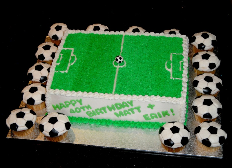 Soccer Theme 40th Birthdays Cake