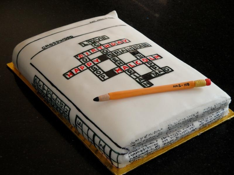 80th Birthday Crossword Puzzle Cake