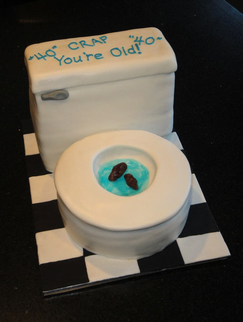 3D Toilet Cake 40th Birthday