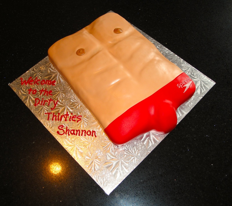Speedo and Abs Cake