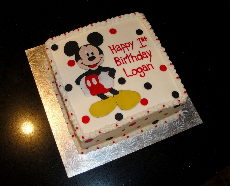 1st Birthday Mickey Mouse Cake