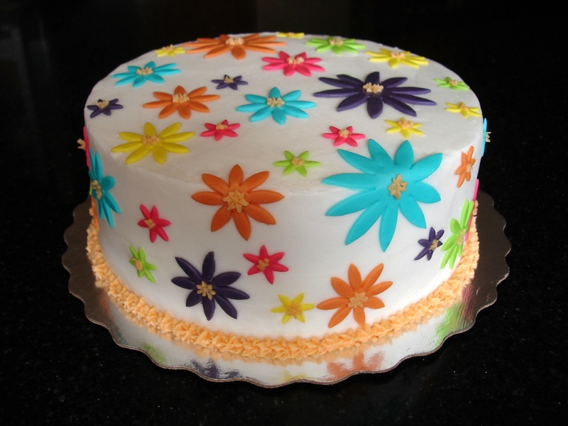 Funky/Cool Flowers Bday Cake