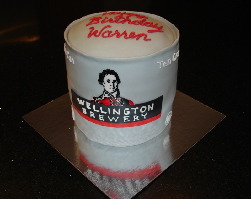 3D Wellington Brewery TenCan Theme Cake