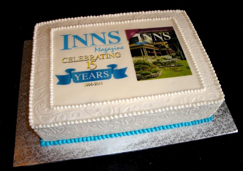 Inns Magazine 15th Anniversary Cake
