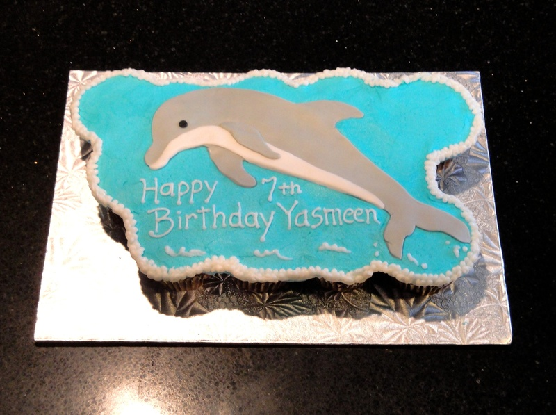 Dolphin Themed Cupcake Cake