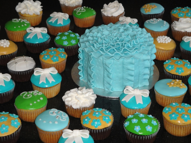 Fancy Cupcakes and Cake