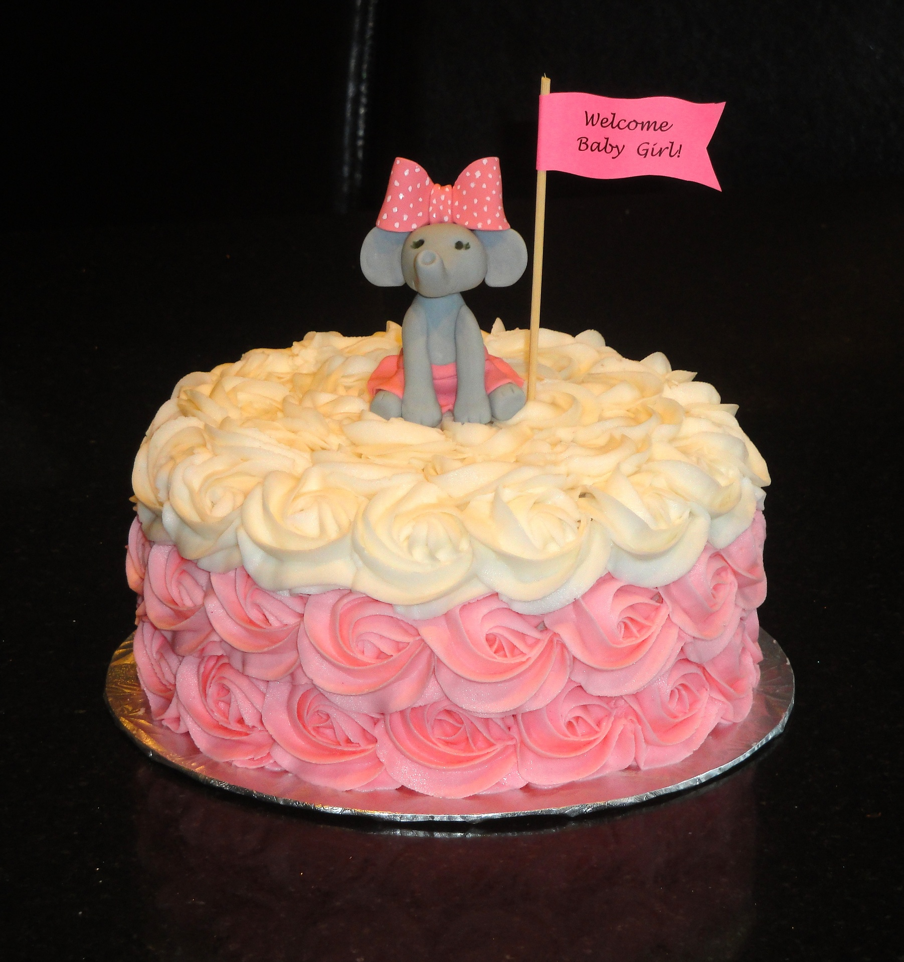 Baby Shower Baby Elephant Theme Cake