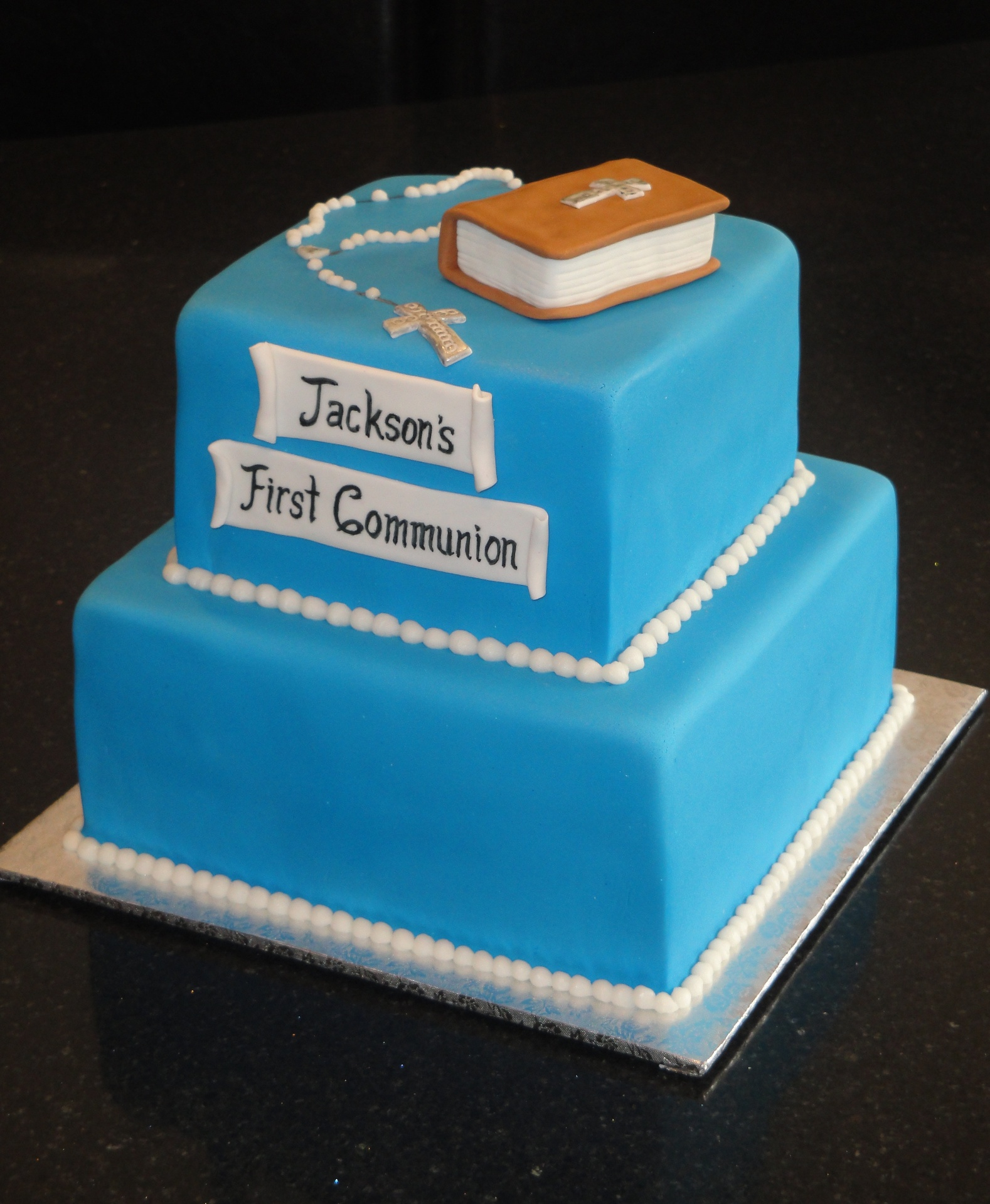 First Commuion Cake
