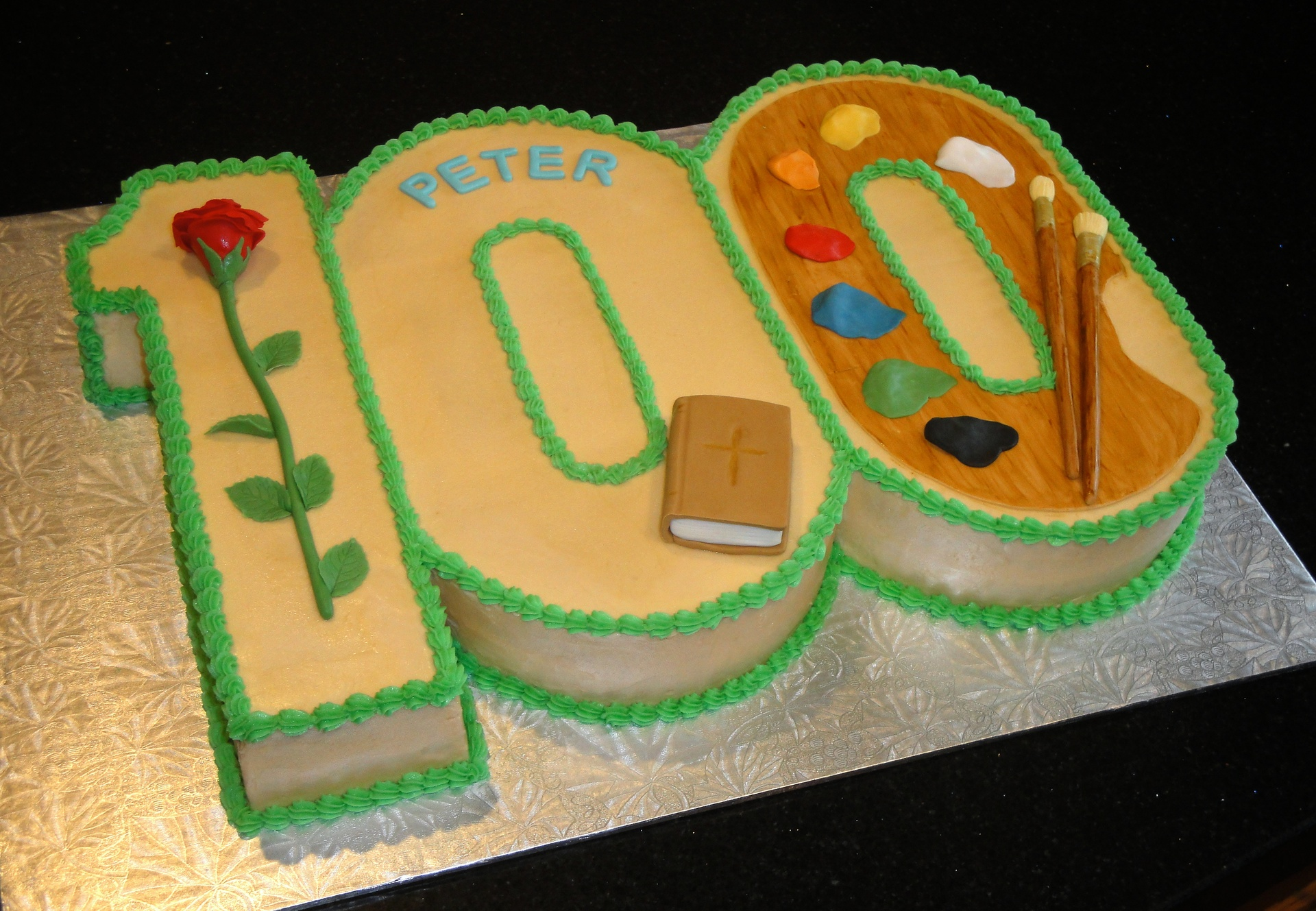 Giant 3D Number 100 Cake