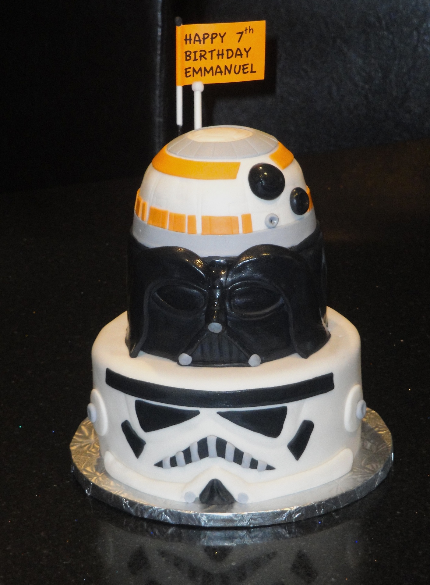 3 Tiered Star Wars Cake