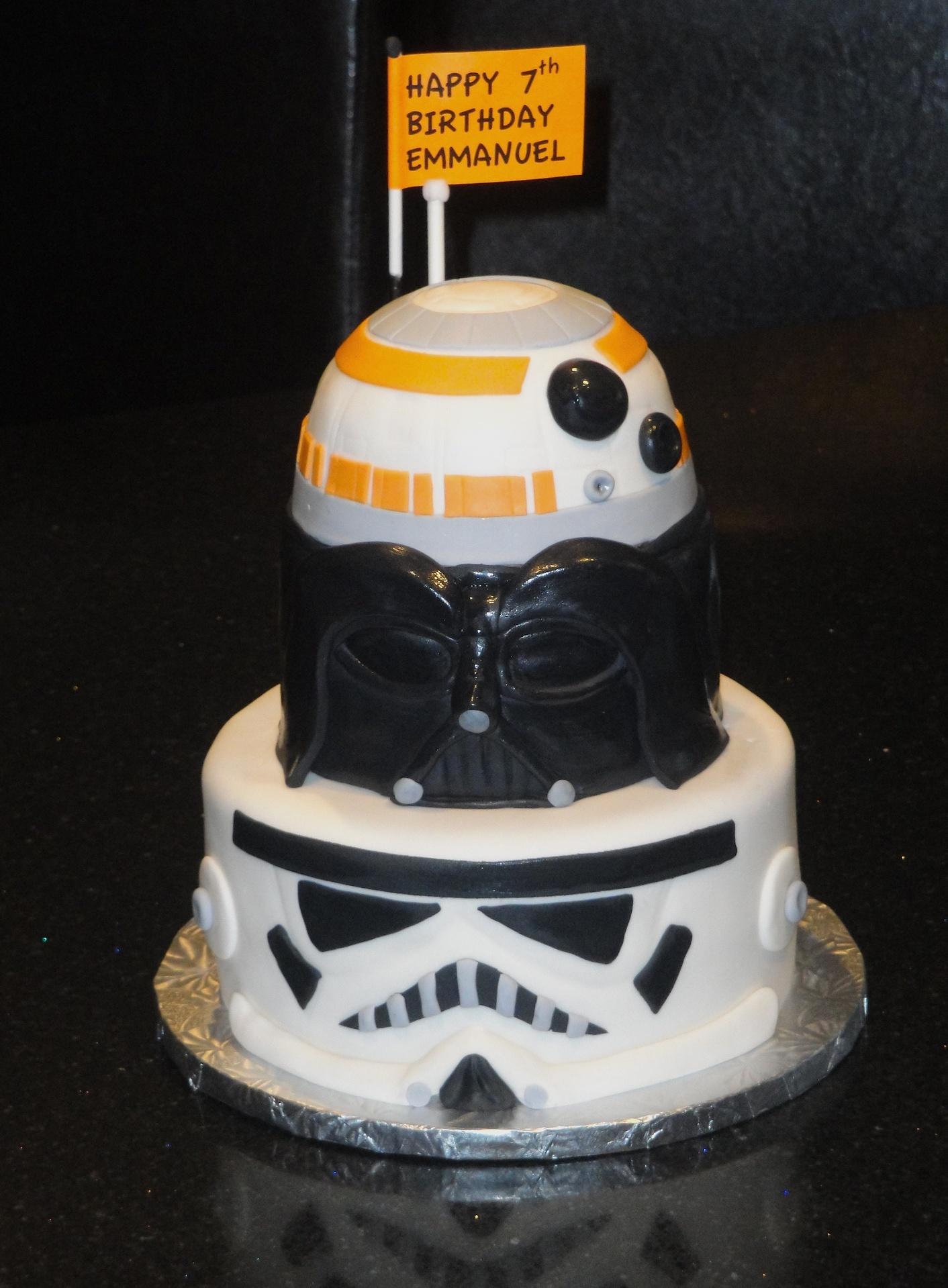 3 Tiered Star Wars Cake
