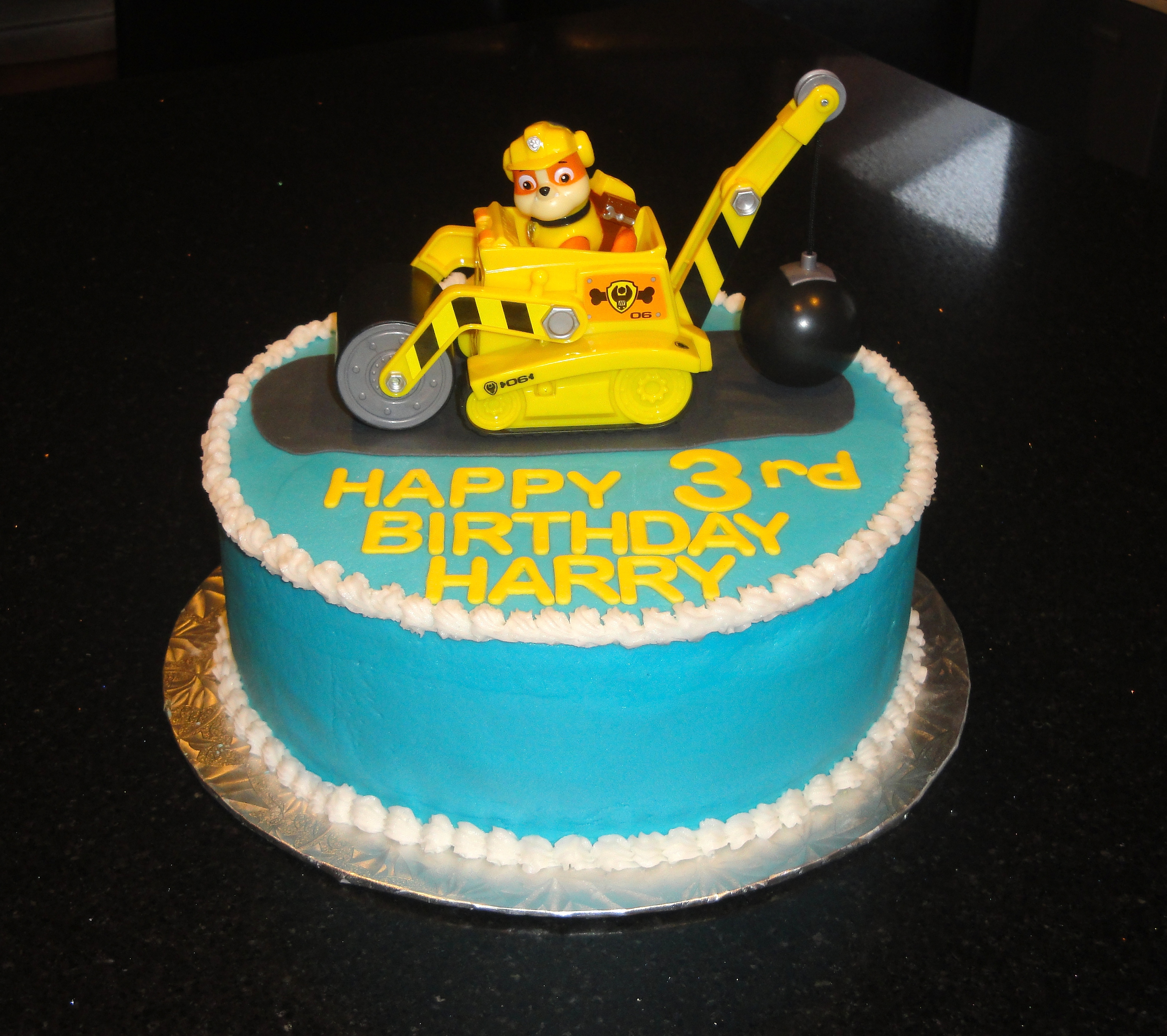 Paw Patrol Birthday with Rubble Topper