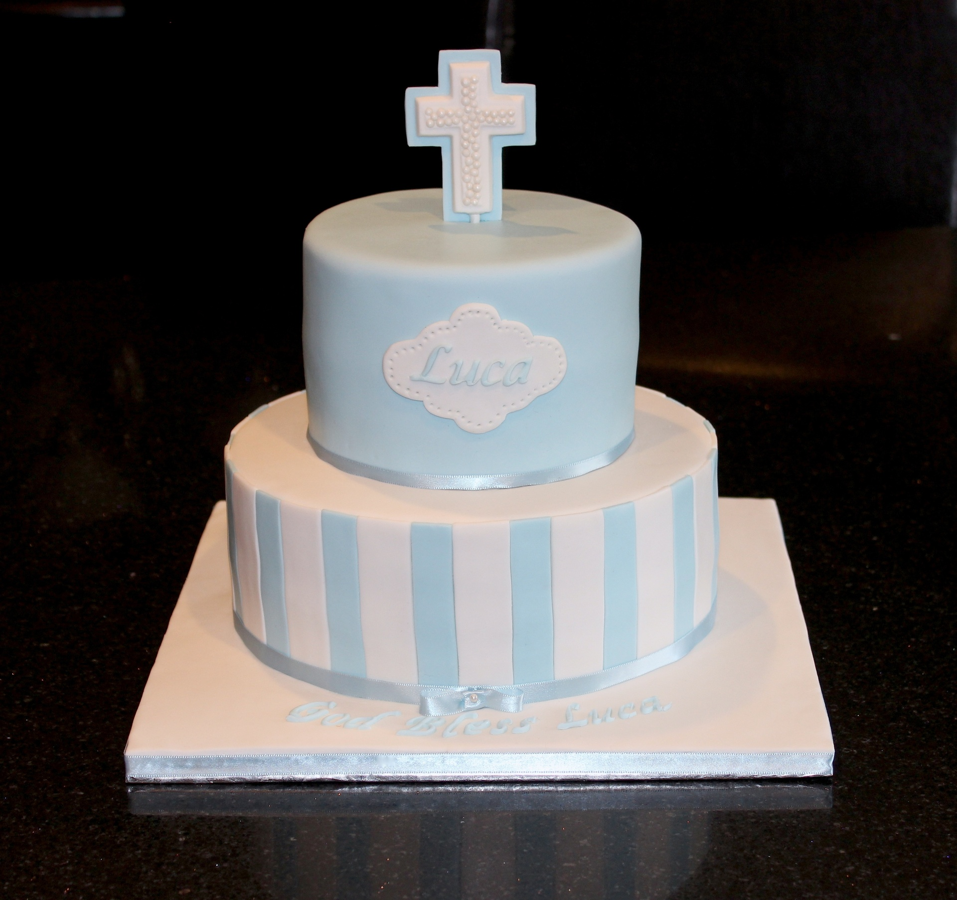 Baptism Cake for Luca