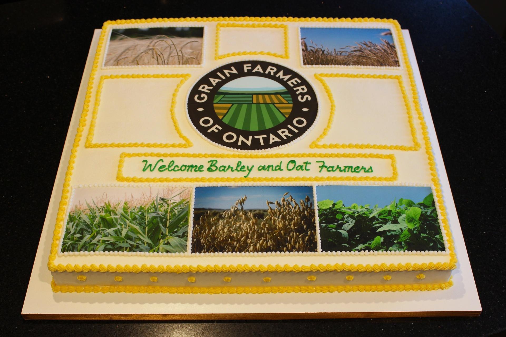Grain Farmers of Ontario Celebration Cake