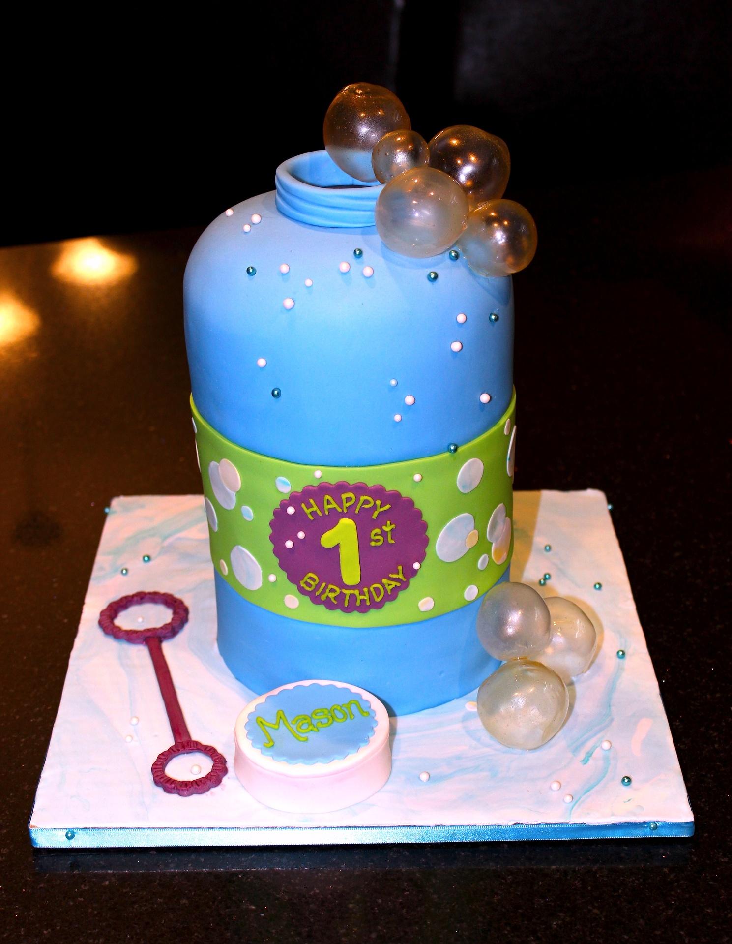 3D Bubble Bottle Cake