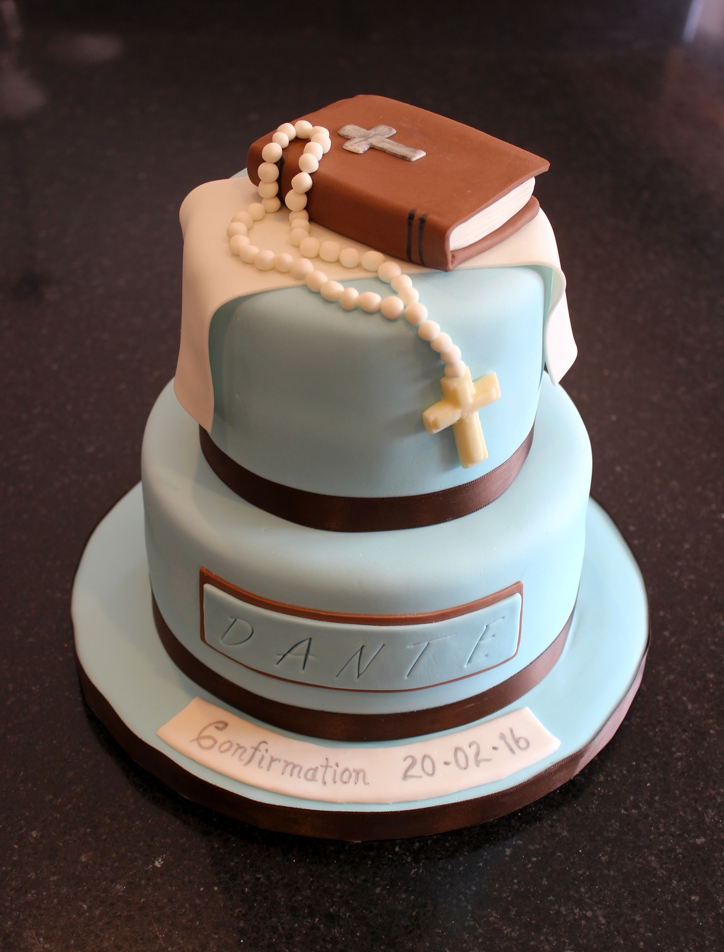2 Tiered Confirmation Cake