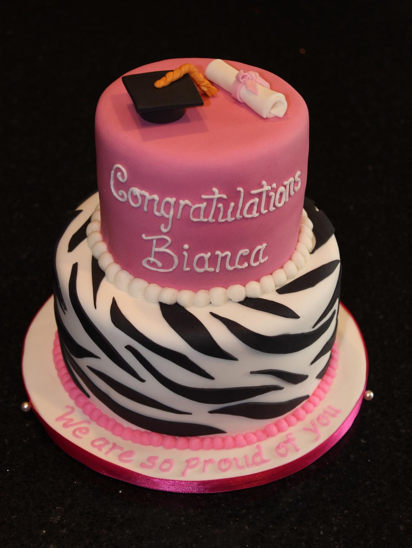 2 Tiered Graduation Cake