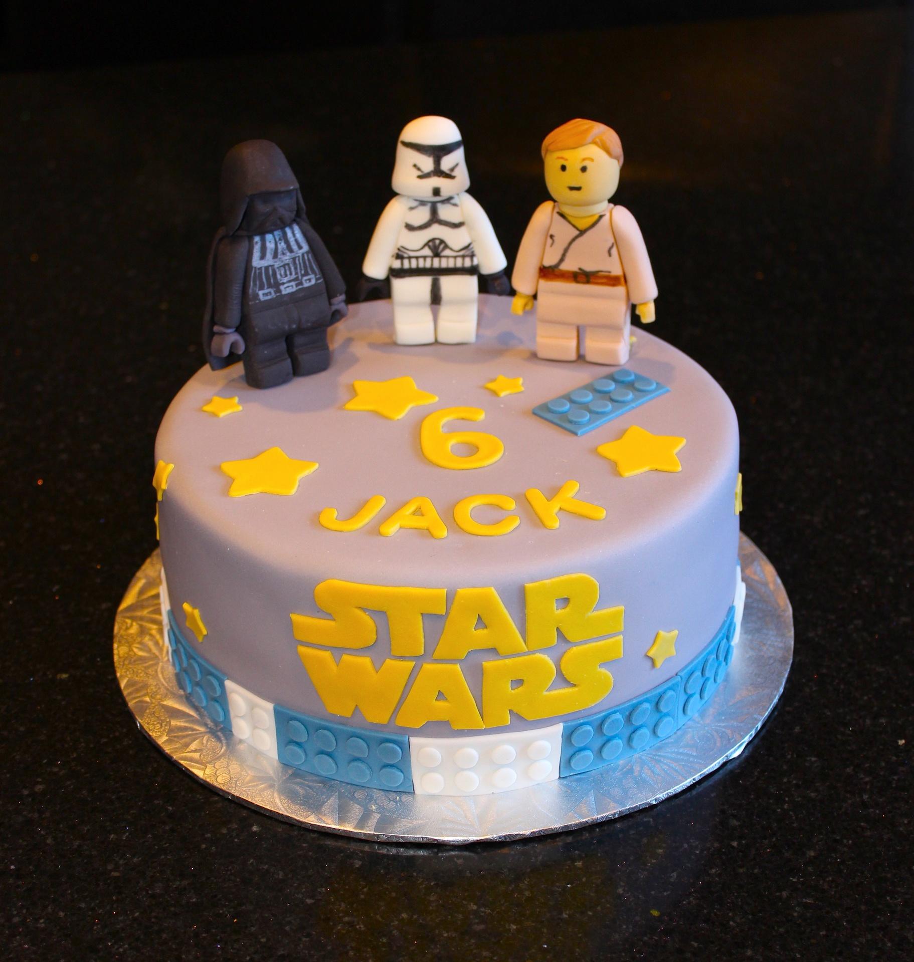 Lego Star Wars Theme Birthday Cake