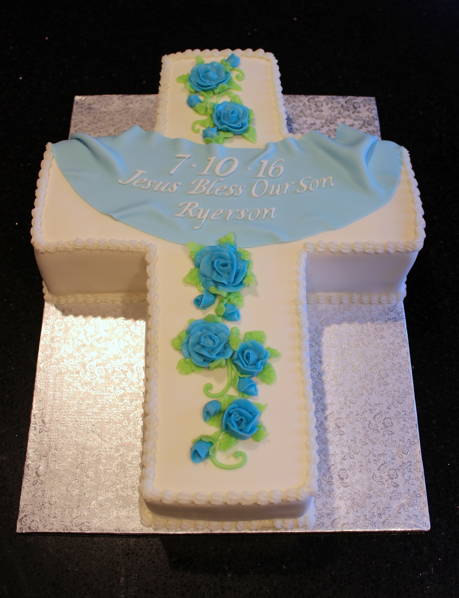 3D Cross Baptism Cake