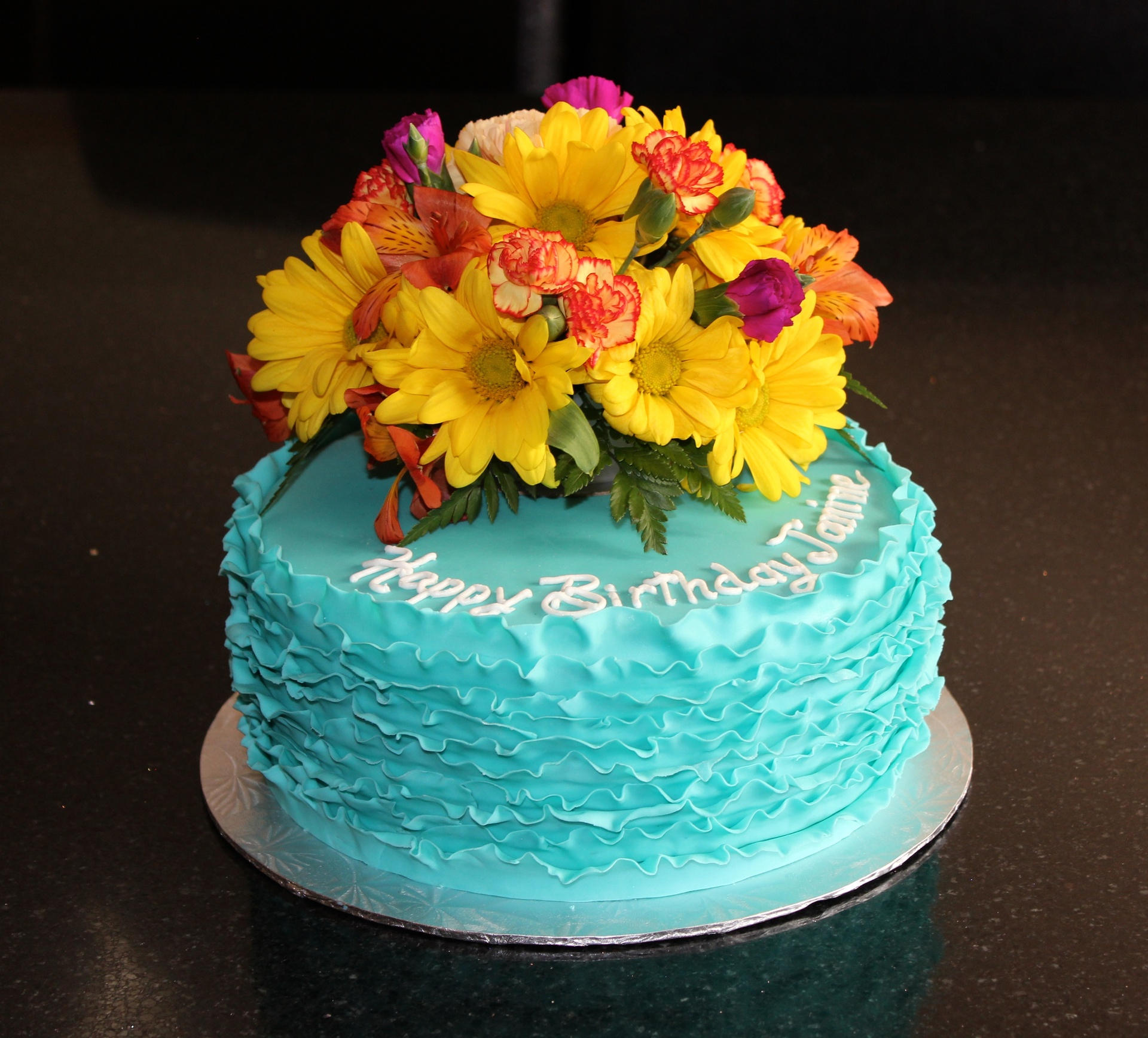Fondant Frills Birthday Cake