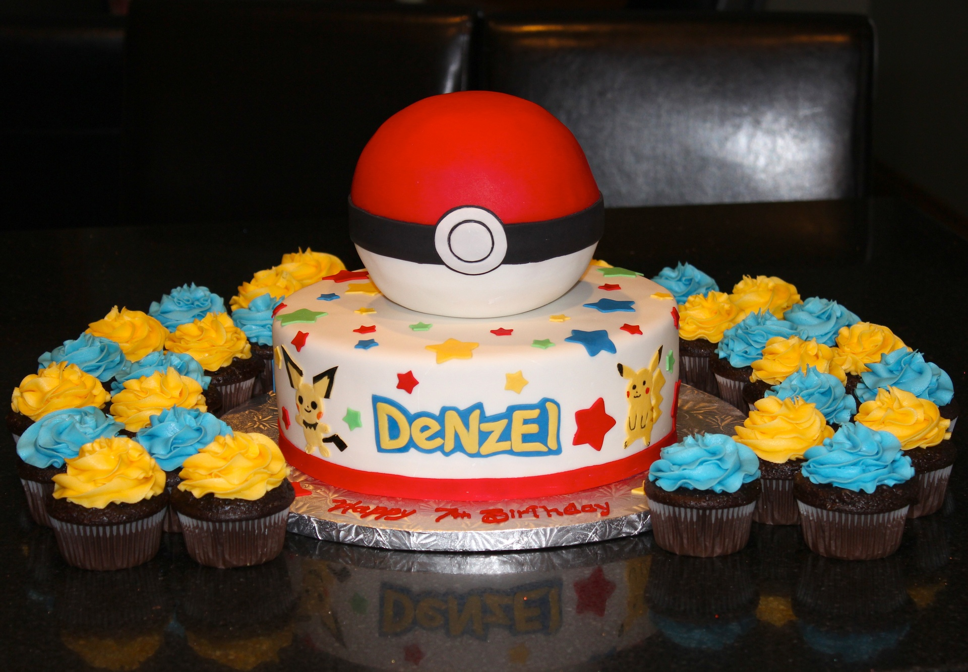 Pokemon 2 tiered Birthday Cake