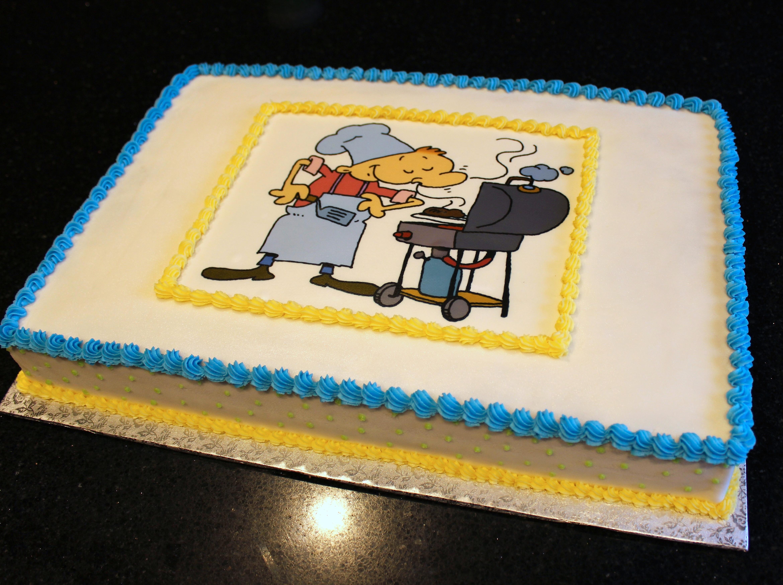 Corporate BBQ Cake