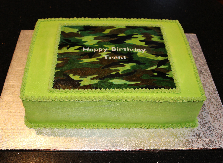 Camouphlage Birthday Cake