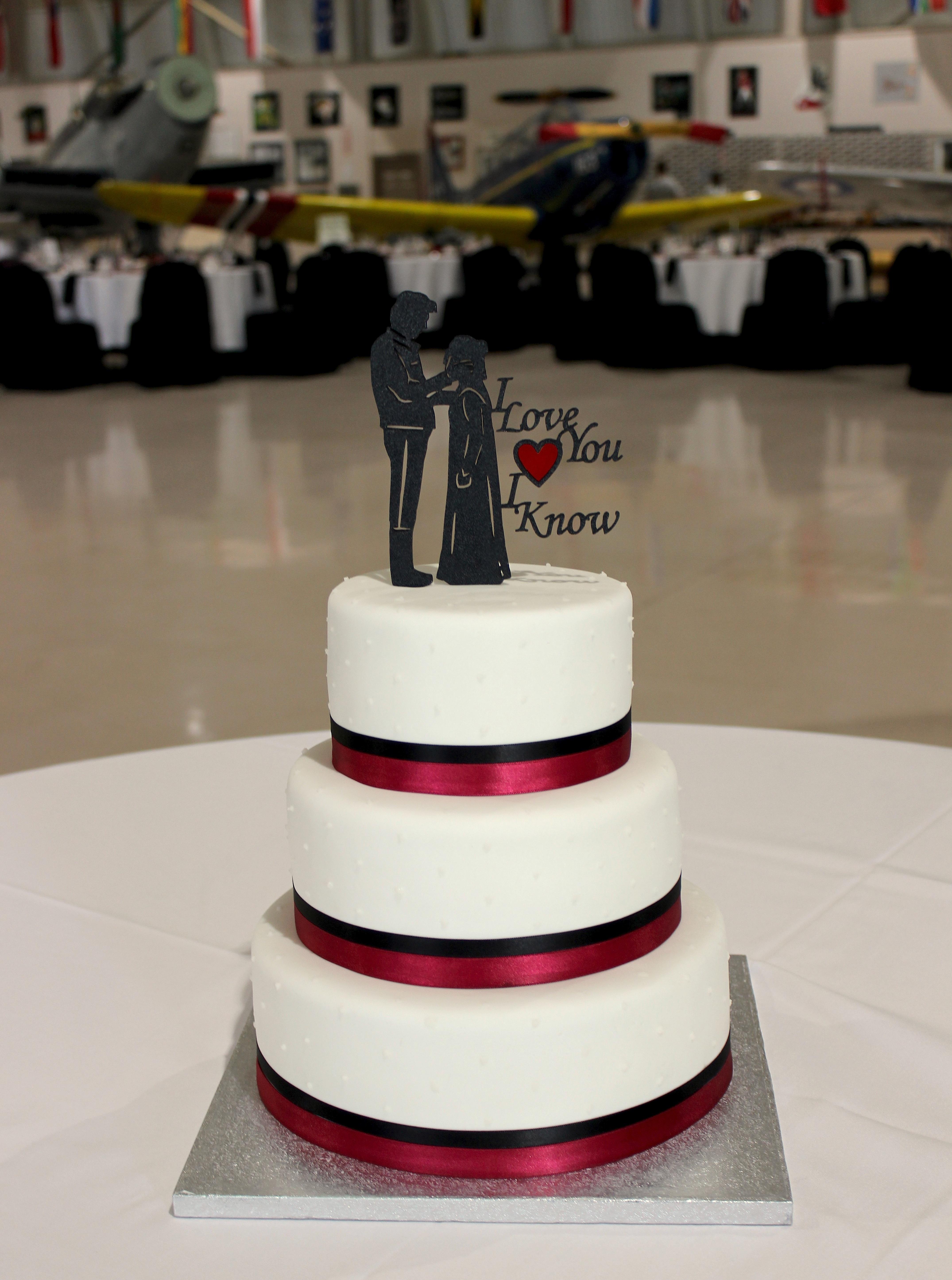 Star Wars Theme Wedding Cake