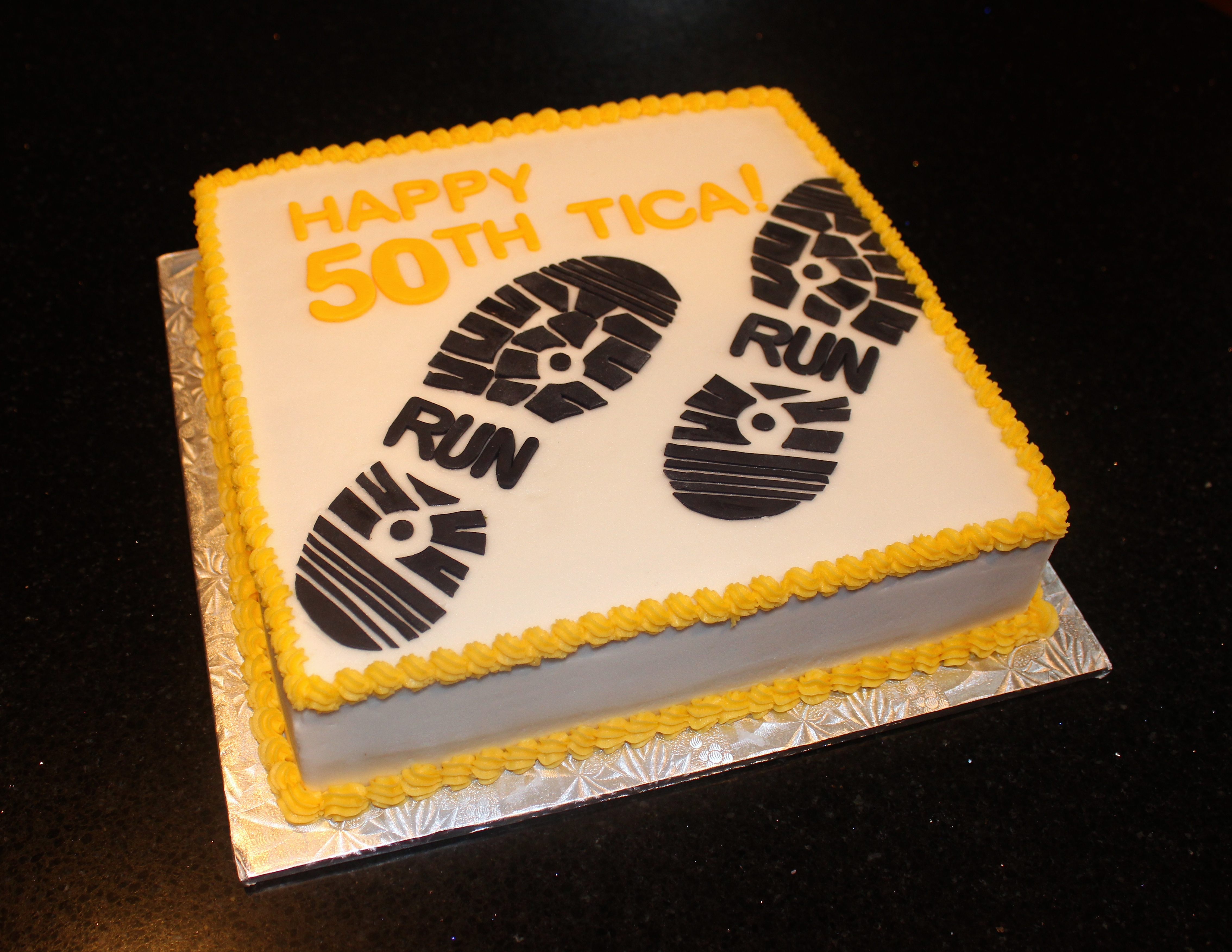 50th Birthday Cake Running Theme