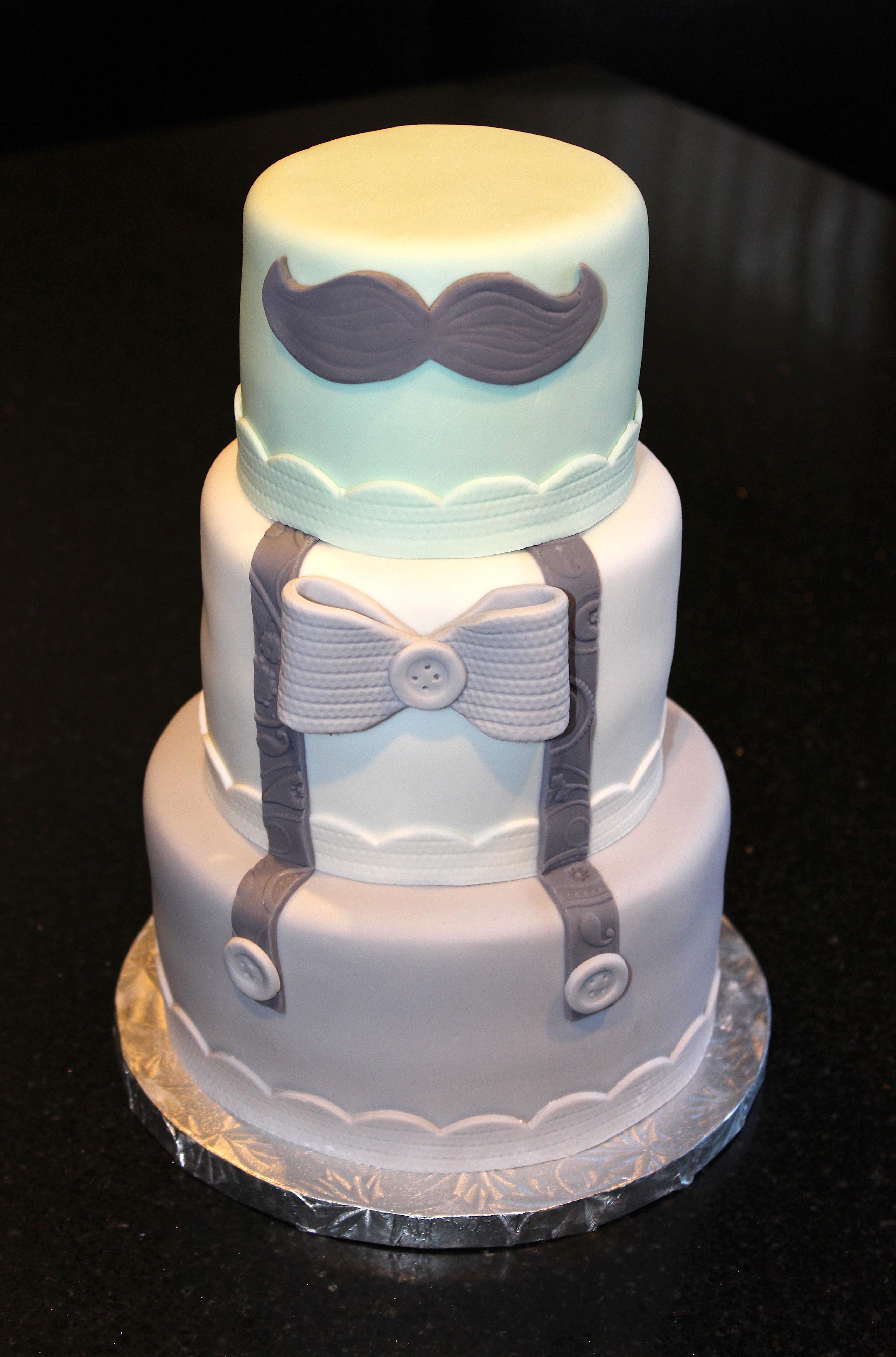 Little Gentleman 1st Birthday Cake